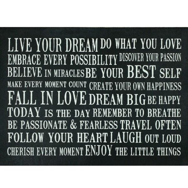 Somette Live Your Dream Cushion Mat (22 x 30)