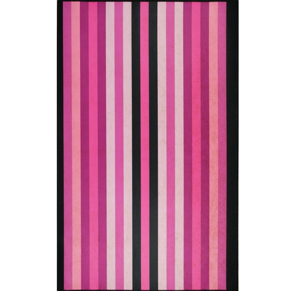 Somette Pink Stripes Mat (36 x 60)