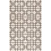 Hand-tufted Marietta Geometric Wool Area Rug - 5' x 8'