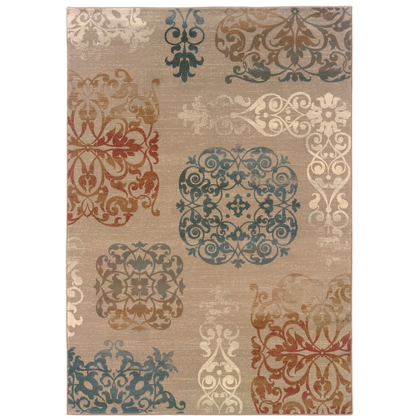 Somette Arabesque Filigree Copper Area Rug (7'10 x 11'2)