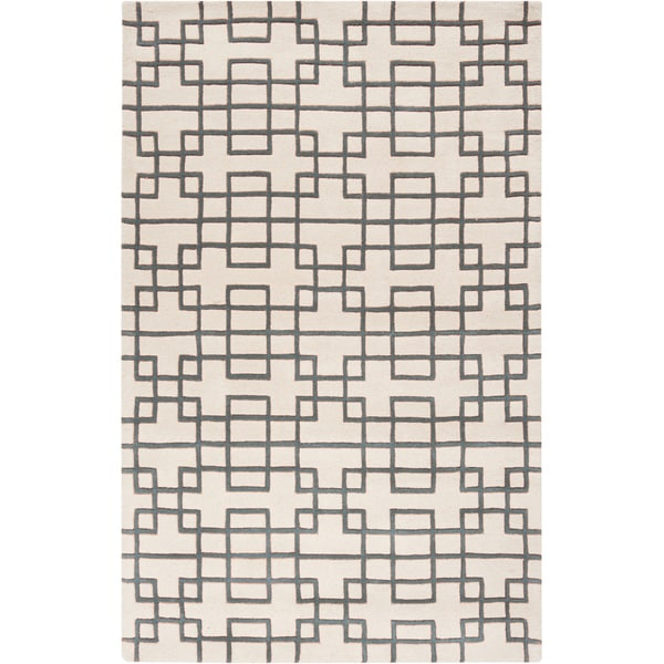 Hand-tufted Madill Geometric Wool Rug (5' x 8')