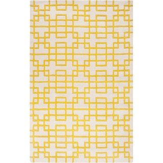 Hand-tufted Lindsay Geometric Wool Rug (8' x 11')