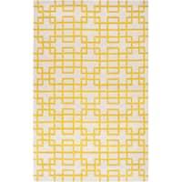 Hand-tufted Lindsay Geometric Wool Area Rug (8' x 11')