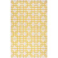 Hand-tufted Lindsay Geometric Wool Area Rug - 5' x 8'