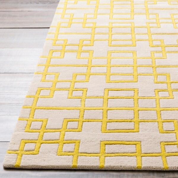 Hand-tufted Lindsay Geometric Wool Area Rug - 5' x 8'/Surplus