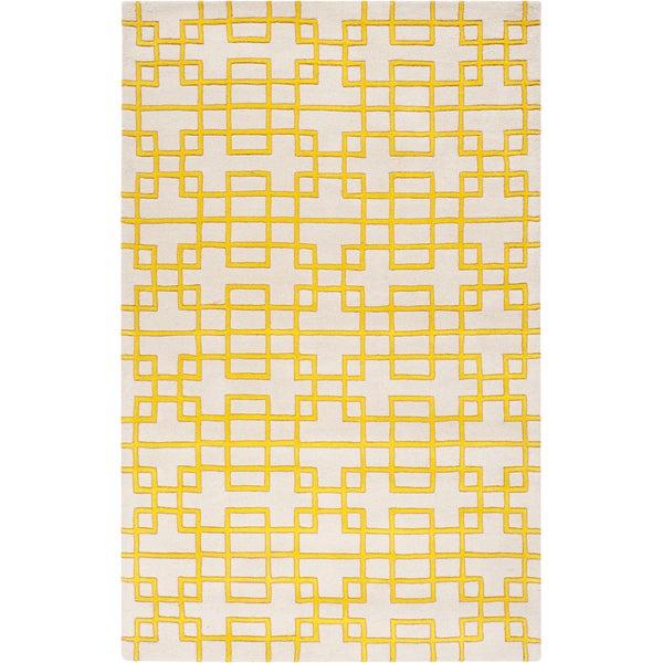 Hand-tufted Lindsay Geometric Wool Rug (5' x 8')