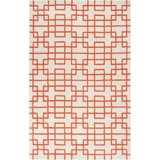 Hand-tufted Lexington Geometric Wool Rug (8' x 11')