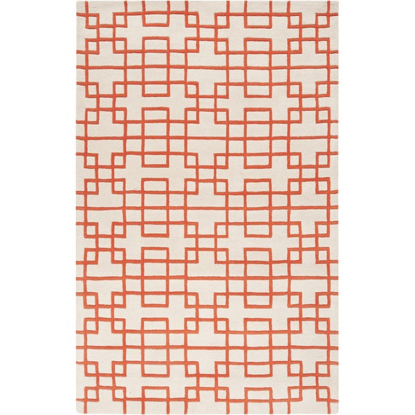 Hand-tufted Lexington Geometric Wool Area Rug (8' x 11')