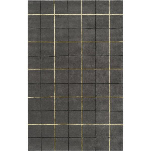 Hand-tufted Konawa Plaid Wool Rug (3'3 x 5'3)