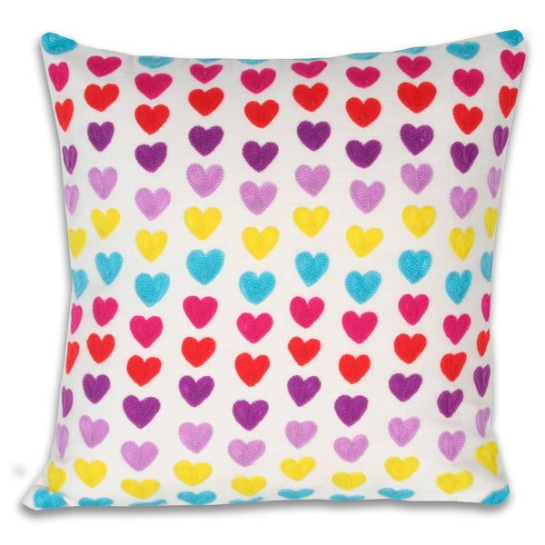 Marlo Lorenz Hearts Multi Decorative Pillow
