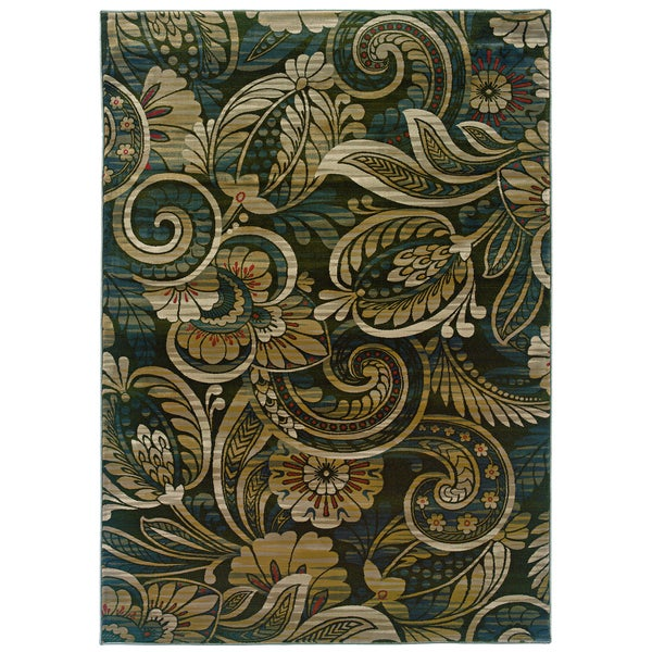 """Somette Millenium Floral Play Hints of Sage Area Rug (5'3"""" x 7'6"""")"""