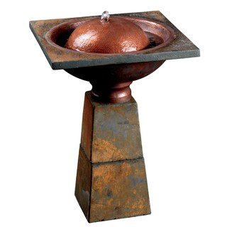 Lusevera Slate Birdbath Fountain