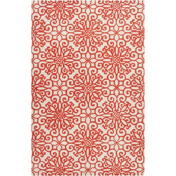 Hand-tufted Hinton Geometric Medallion Wool Area Rug - 5' x 8'