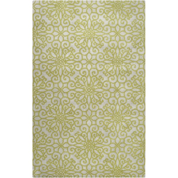 Hand-tufted Haskell Geometric Medallion Wool Rug (8' x 11')