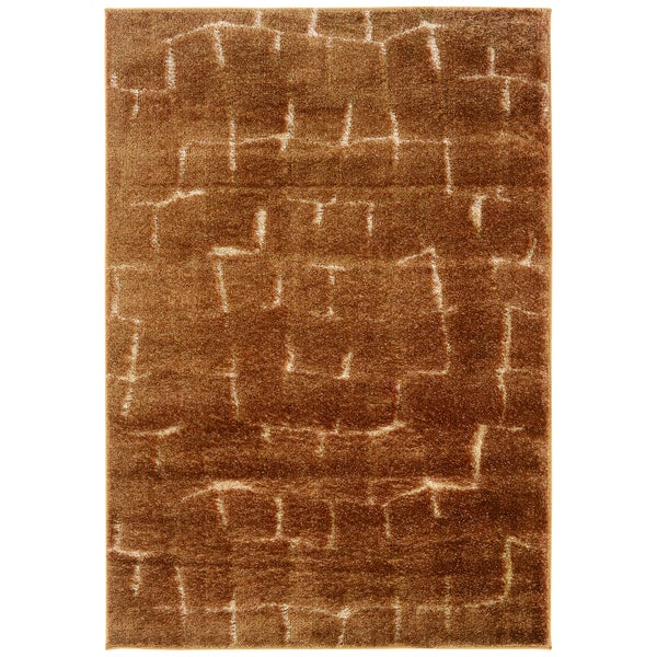Somette Shadow Magic Labyrinth Tobacco Area Rug (7'10 x 11'2)