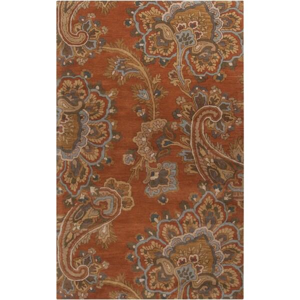 Hand-tufted Bixby Orange Rug (5' x 8')