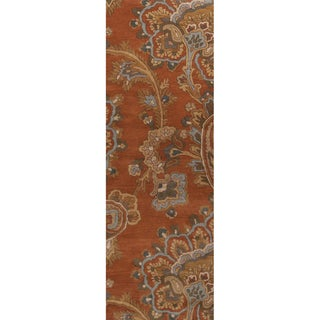 Hand-tufted Bixby Orange Rug (2'6 x 8')