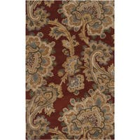 Hand-tufted Antlers Brown Area Rug - 5' x 8'