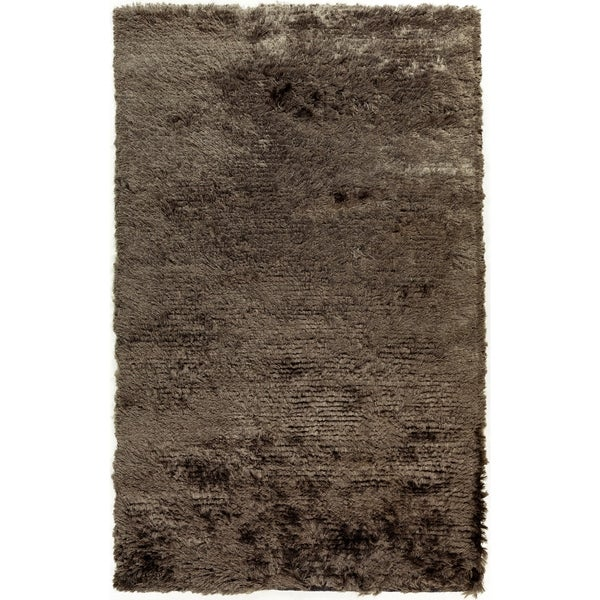 Hand-woven Altus Grey Plush Area Rug - 8' x 10'