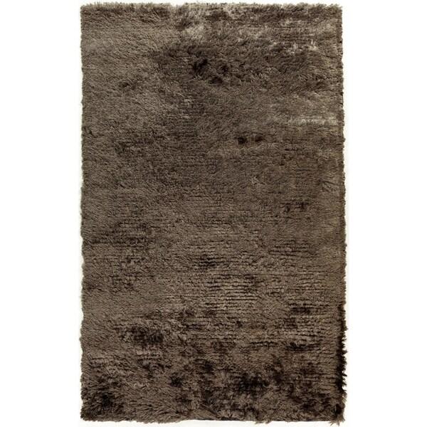 Hand-woven Altus Grey Plush Area Rug - 5' x 8'
