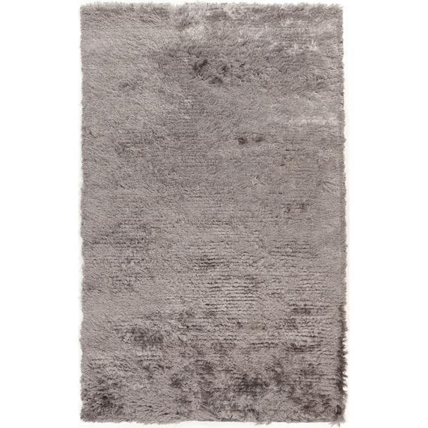 Hand-woven Altus Grey Plush Rug (5' x 8')