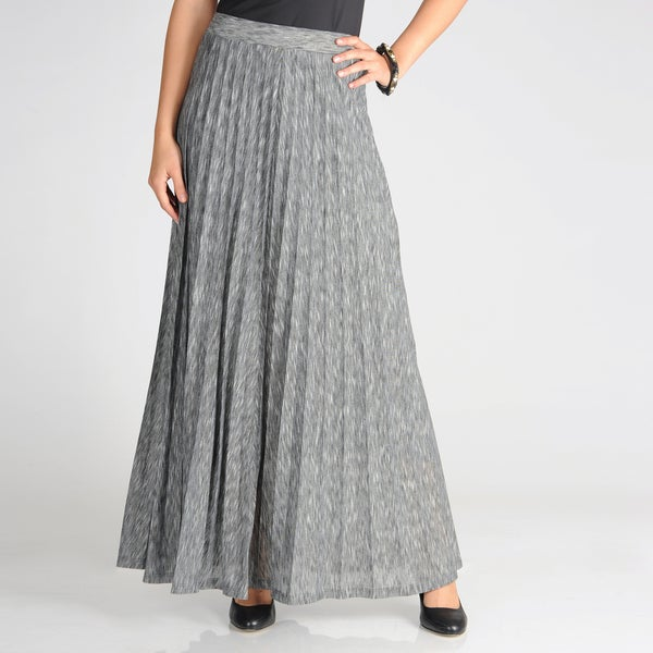 Grace Elements Women's Straiated Accordion Pleat Maxi Skirt