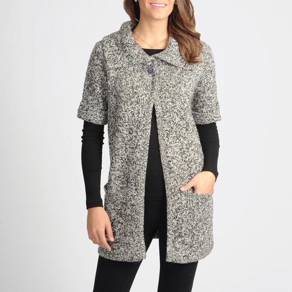 Vivienne Vivienne Tam Women's Black/ White Knit Novelty Sweater