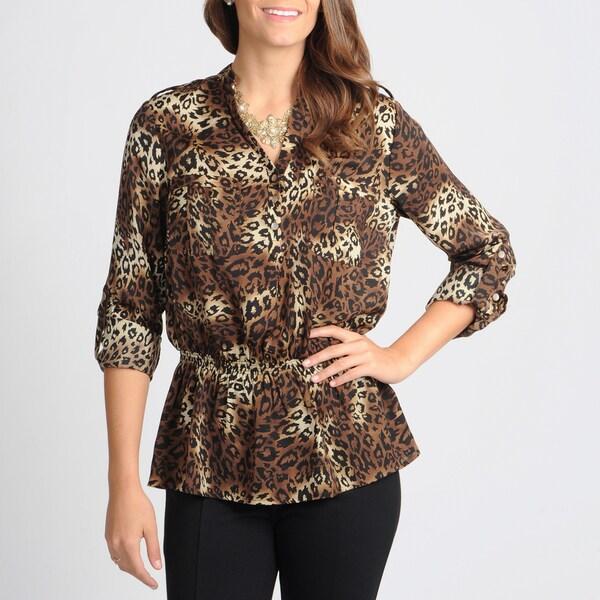 Grace Elements Women's Animal Print Utility Shirt