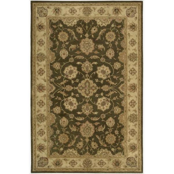 Hand-tufted Heritage Hall Brown Wool Rug