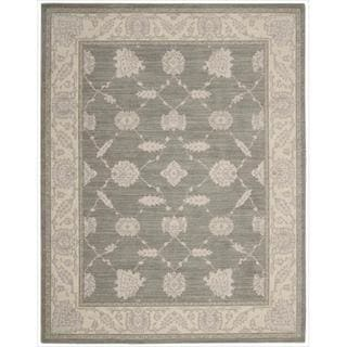 New Horizon Modern Persian Beige/ Grey Wool Rug (5'3 x 7'6)
