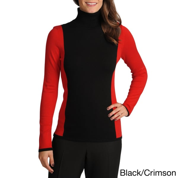 Focus 2000 Women's Color-block Turtleneck