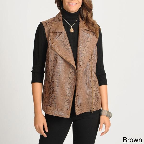 Focus Women's Snake Skin Printed Vest