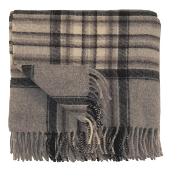 Bocasa Karo Brown Woven Wool Blanket