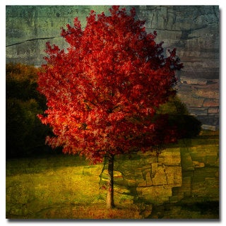 Philippe Sainte Laudy 'Autumn Red' Canvas Art - Multi