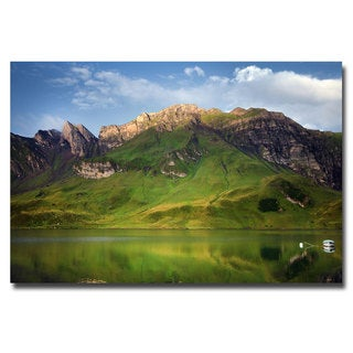 Philippe Sainte Laudy 'Green Mirror' Canvas Art