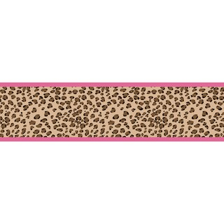 Sweet JoJo Designs Pink Cheetah Wall Paper Border