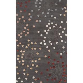 Hand-tufted Geary Grey Geometric Wool Rug (5' x 8')
