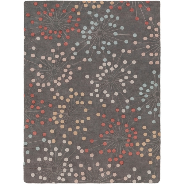 Hand-tufted Geary Grey Geometric Wool Area Rug - 8' X 11'