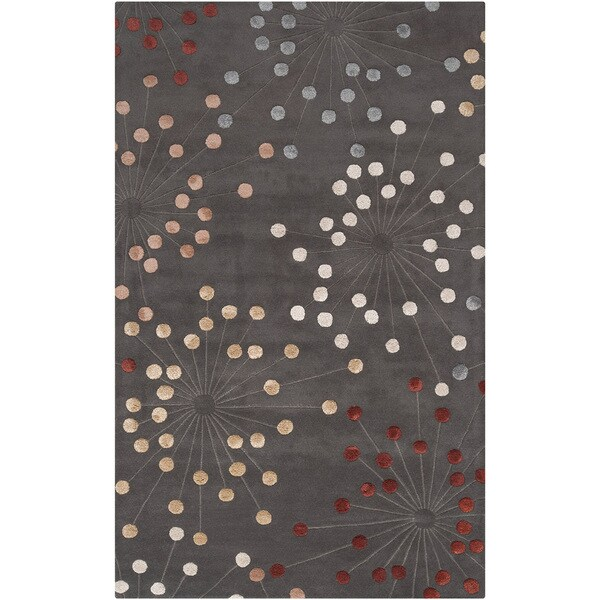 Hand-tufted Geary Grey Geometric Wool Area Rug (8' x 11')