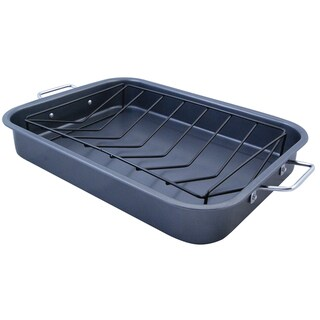 KitchenWorthy Roasting Pan with V-Rack