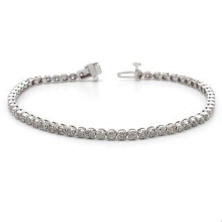 Auriya 14k Gold 2ct TDW Diamond Tennis Bracelet