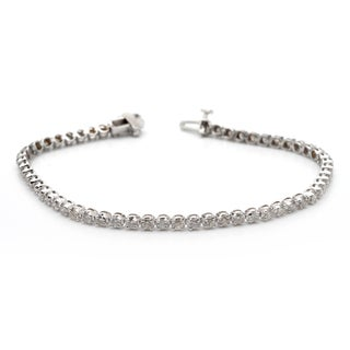 Auriya 14k Gold 3ct TDW Diamond Tennis Bracelet