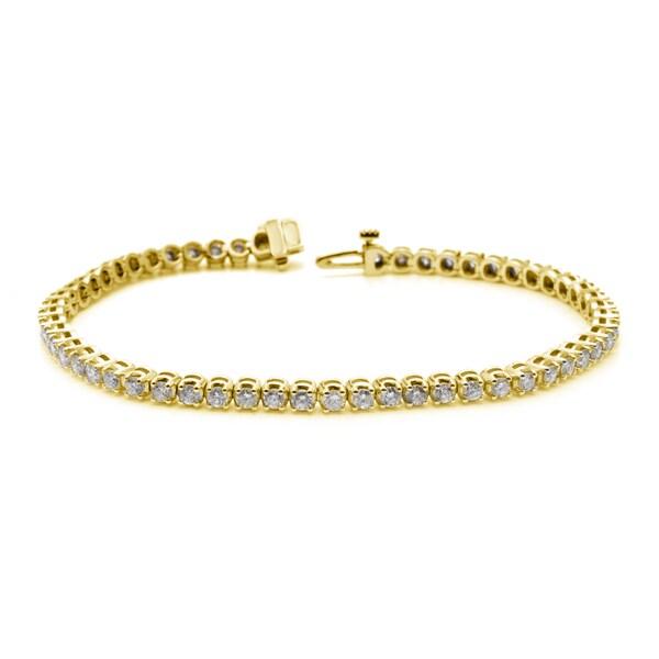 Auriya 14k White or Yellow Gold 6ct TDW Diamond Tennis Bracelet (H-I, I1-I2)