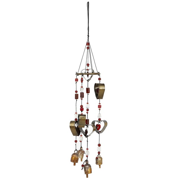 Handmade Cookie Cutter Hearts Wind Chime (India)