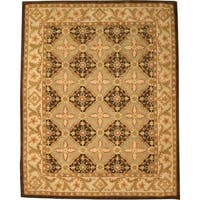 Hand-tufted Wool Brown Traditional Oriental Khyber Rug - 7'9 x 9'9