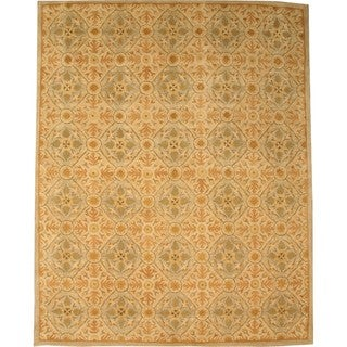 Hand-tufted Wool Ivory Traditional Oriental Kabul Rug (7'9 x 9'9)