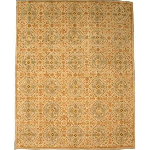 EORC Hand-tufted Wool Ivory Twisted Royal Kabul Rug (7'9 x 9'9)