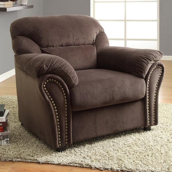 Evette Chocolate Microfiber Chair