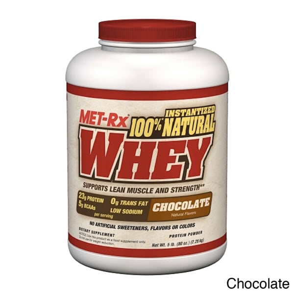 MET-Rx 100-percent Natural Whey Protein Supplement (5 Pounds)