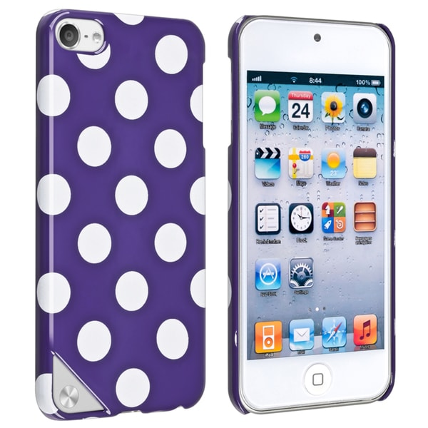 INSTEN Purple/ White Dot Case Cover for Apple iPod Touch Generation 5